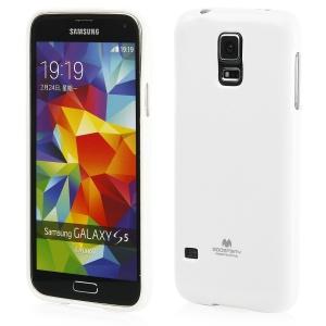 """Silikoninis dėklas Samsung S5 G900F Mercury Goospery """"Jelly Case"""" baltas"""