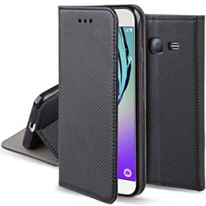 """Atverčiamas dėklas Samsung Galaxy J5 2016 J510 """"Smart Magnet"""" juodas"""