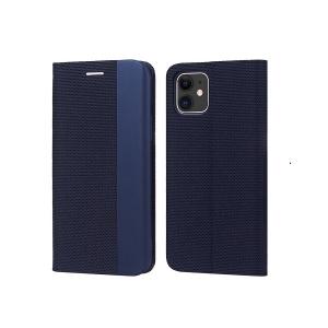 Dėklas Smart Senso Samsung S21 tamsiai mėlynas