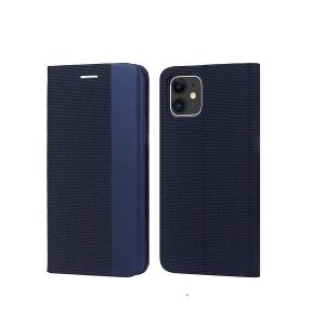 Dėklas Smart Senso Samsung S21 Plus tamsiai mėlynas