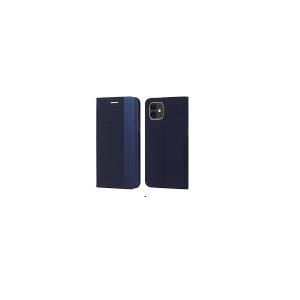 Dėklas Smart Senso Samsung S21 Ultra tamsiai mėlynas
